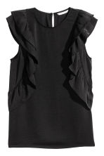 Frilled top - Black - Ladies | H&M CN 2