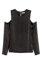 Top a spalle scoperte in satin - Nero - DONNA | H&M IT 2