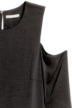 Top a spalle scoperte in satin - Nero - DONNA | H&M IT 3