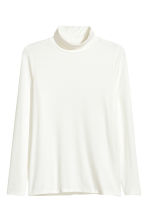H&M+ Polo-neck top - White - Ladies | H&M CN 2