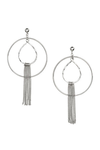 Large earrings - Silver - Ladies | H&M GB 1