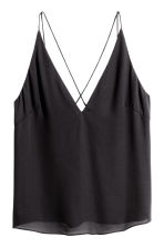 V-neck top - Black - Ladies | H&M GB 2