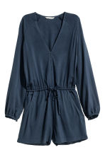 V-neck playsuit - Dark blue - Ladies | H&M CN 2