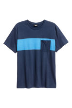 T-shirt - Dark blue - Men | H&M CN 2