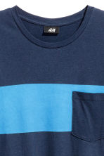 T-shirt - Dark blue - Men | H&M CN 3