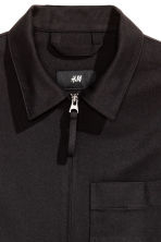 Wool-blend shirt jacket - Black - Men | H&M CN 3