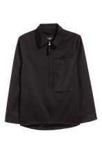 Wool-blend shirt jacket - Black - Men | H&M CA 2