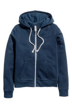 Hooded jacket - Dark blue - Ladies | H&M CN 2