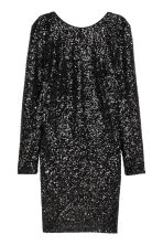 Sequined dress - Black -  | H&M CN 2