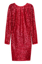 Sequined dress - Red -  | H&M CN 2