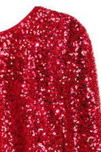 Sequined dress - Red -  | H&M CN 4