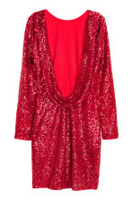 Sequined dress - Red -  | H&M CN 3