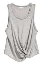 Top with tie detail - Grey marl - Ladies | H&M CN 2