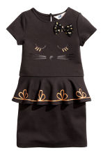 Dress with sequined embroidery - Black - Kids | H&M CN 2
