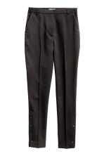 Suit trousers with press-studs - Black - Ladies | H&M CN 2