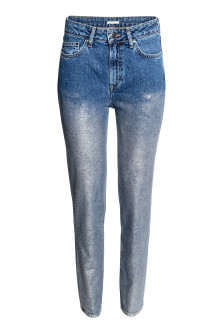 Jeans mit Silbercoating