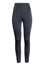 Trousers with creases - Dark blue - Ladies | H&M CN 2