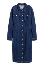 Fitted denim dress - Dark denim blue - Ladies | H&M CN 2