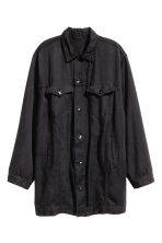 Oversized lyocell denim jacket - Dark grey - Ladies | H&M CN 2