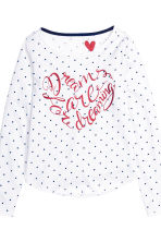 Jersey pyjamas - White/Spotted - Kids | H&M CN 2