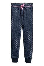 Jersey pyjamas - White/Dark blue/Striped - Kids | H&M CN 3