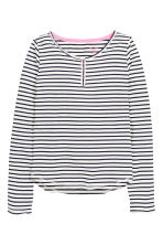 Jersey pyjamas - White/Dark blue/Striped - Kids | H&M CN 2