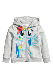 Hooded jacket with print motif