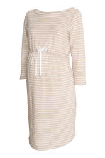 MAMA Jersey dress - Light beige/Striped - Ladies | H&M CN 2