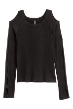 Cut-out jumper - Black - Ladies | H&M CN 2