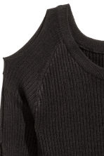 Cut-out jumper - Black - Ladies | H&M CN 3