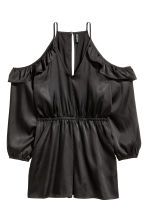 Cold shoulder playsuit - Black - Ladies | H&M CN 2