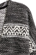 Jacquard-knit cardigan - Black/Striped -  | H&M CN 3