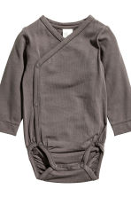 2-pack pima cotton bodysuits - Dark grey - Kids | H&M CN 3