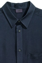 Viscose shirt - Dark blue - Men | H&M CN 4