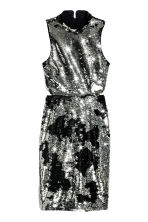Sequined dress - Silver/Black - Ladies | H&M CN 2