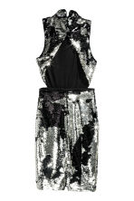Sequined dress - Silver/Black - Ladies | H&M CN 3
