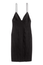 Fitted strappy dress - Black -  | H&M GB 2