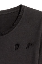 Trashed long-sleeved T-shirt - Black - Men | H&M CN 3