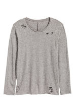 Trashed long-sleeved T-shirt - null - Men | H&M CN 2