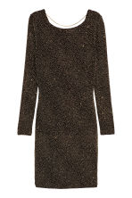 Abito glitter - Nero/dorato -  | H&M IT 2
