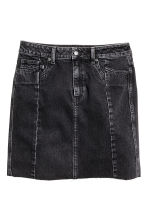 Denim skirt - Dark grey - Ladies | H&M CN 2