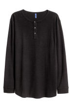 Henley shirt - Black - Men | H&M CN 2
