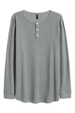 Henley shirt - Grey - Men | H&M CN 2