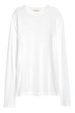 Long-sleeved jersey top - White - Ladies | H&M CN 2
