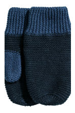 Hat and mittens - Dark blue - Kids | H&M CN 3