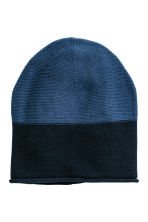 Hat and mittens - Dark blue - Kids | H&M CN 2