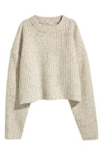 Chunky-knit wool jumper - Light grey marl - Ladies | H&M 2