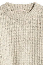 Chunky-knit wool jumper - Light grey marl - Ladies | H&M 3