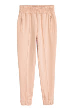 Joggers with creases - Powder beige - Ladies | H&M CN 2