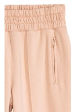 Joggers with creases - Powder beige - Ladies | H&M CN 3